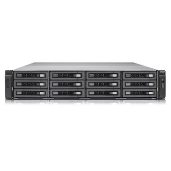 QNAP TVS-EC1280U-SAS-RP-8GE-R2-US Intel Xeon E3-1245 v3/ E3-1246 v3 3.4GHz/ 8GB RAM/ 6GbE/ 12SAS3/ USB3.0/ 12-Bay 2U Rackmount NAS for Enterprise