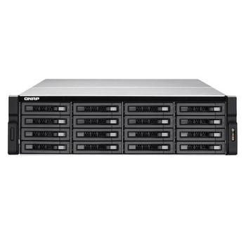 QNAP TVS-EC1680U-SAS-RP-16G-R2-US Intel Xeon E3-1245 v3/E3-1246 v3 3.4GHz/3.5GHz/ 16GB RAM/ 6GbE/ 16SATA3/ USB3.0/ 16-Bay 3U Rackmount NAS for Enterprise