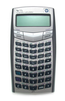 Part No: F2216A#ABC - HP 33s Scientific Calculator 100 Functions 2 Line(s) 10 Character(s) Battery Powered3.2-inch x 0.6-inch (Refurbished)
