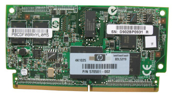 Part No: 570501-002 - HP 1GB FBWC (Flash Backed Write Cache) Memory Module for Smart Array P212/P410/P411 Controller