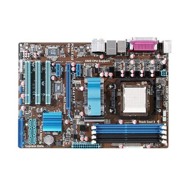Part No: 90-MIBB50-G0EAY0GZ - ASUS Asus M4A77D Motherboard AM2+ AMD 770 ATX  RAID SATA Gigabit LAN (Refurbished)
