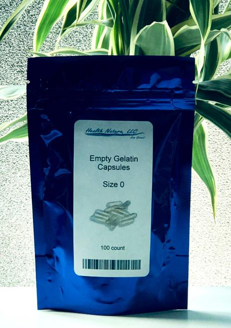 Gelatin Capsules 100 pack - size 0