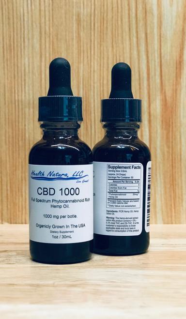 CBD 1000 Tincture 1oz