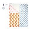 Portable Changing Mat | Two Layer | Pinwheel | 2+1 pack