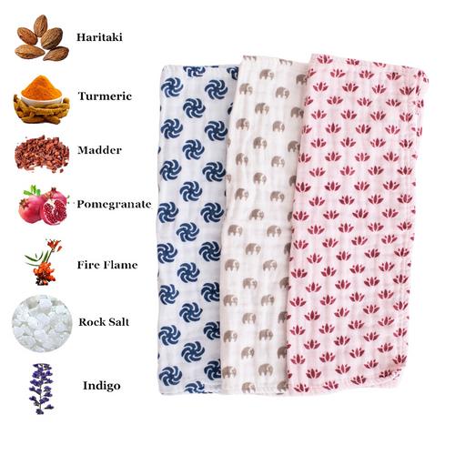 Multi-Purpose Burp Cloth | Two Layer | 4-pack