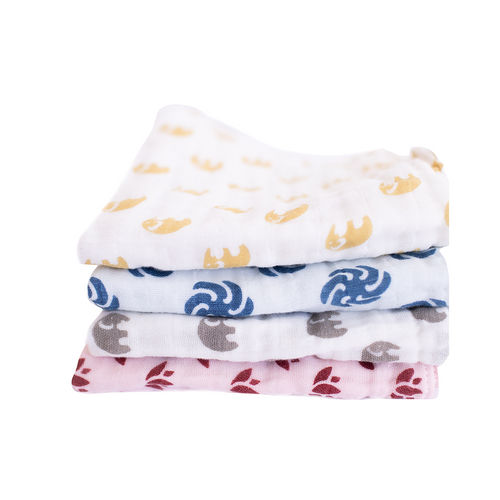 Soft Wash Cloth | Three Layer | 4-pack (assorted)