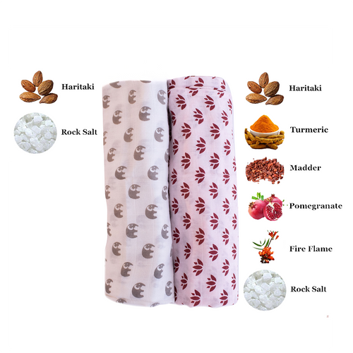 Swaddle Me Nature   One Layer   2-pack Lotus Lullaby & Elephant Parade