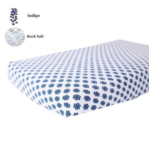 Fitted Crib Sheet   One Layer   Pinwheel