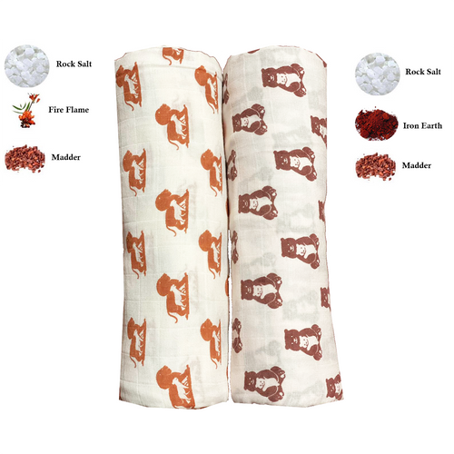 Swaddle Me Nature | One Layer | 2-pack Bear Hug & Cub Pride