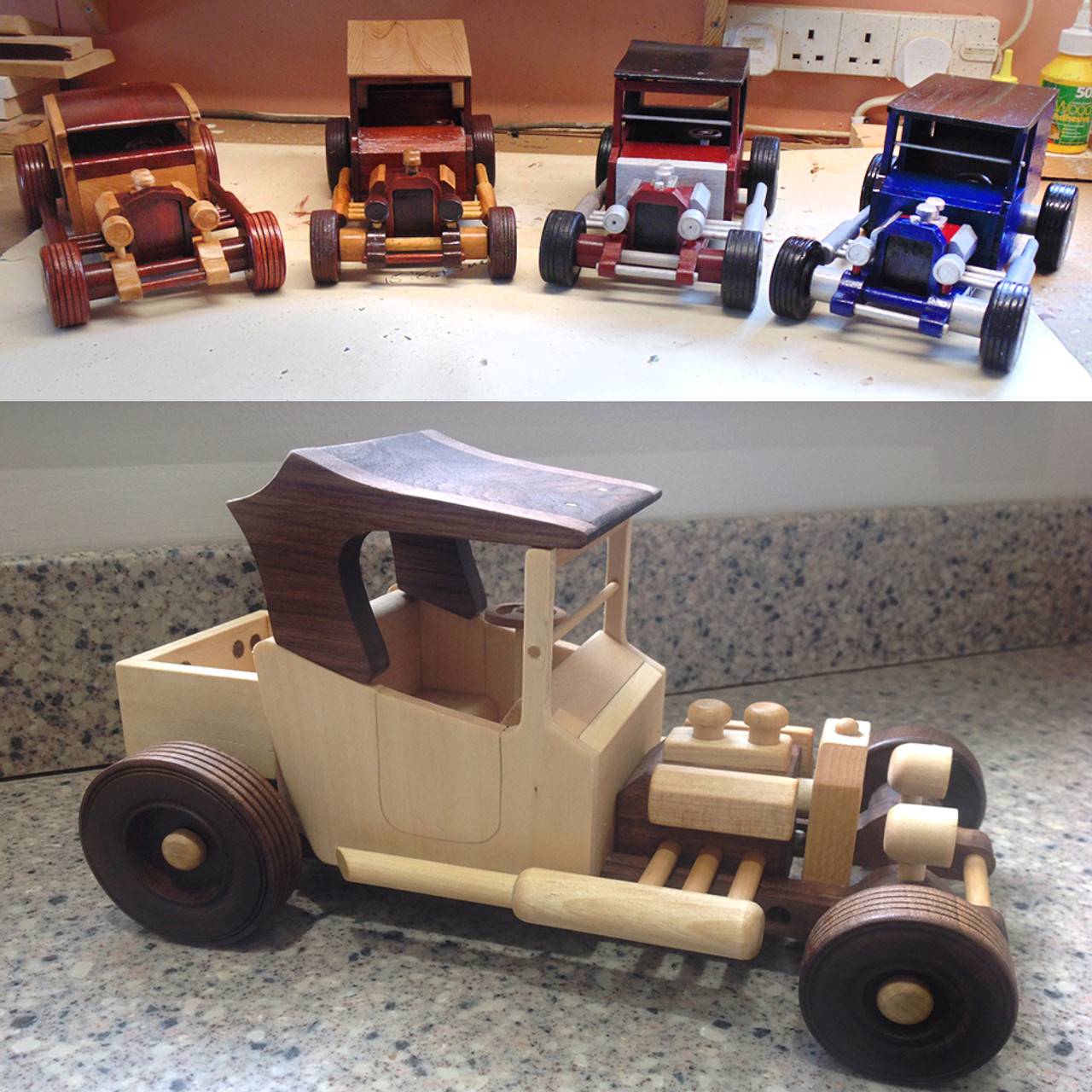 four hill billy hot rods plan set wood toy plans (4 pdf downloads)