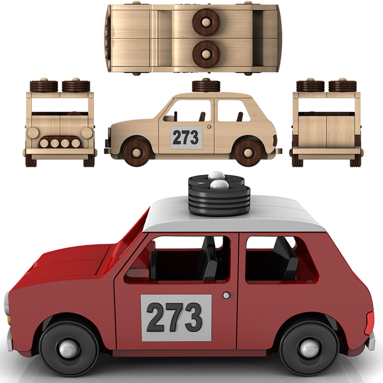 1961 Land Rover And Mini Cooper Rally Wood Toy Plans