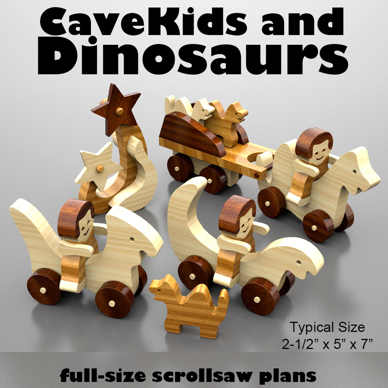 zoo carpet buddies and cavekids & dinosaurs wood toy plans (2 pdf downloads)