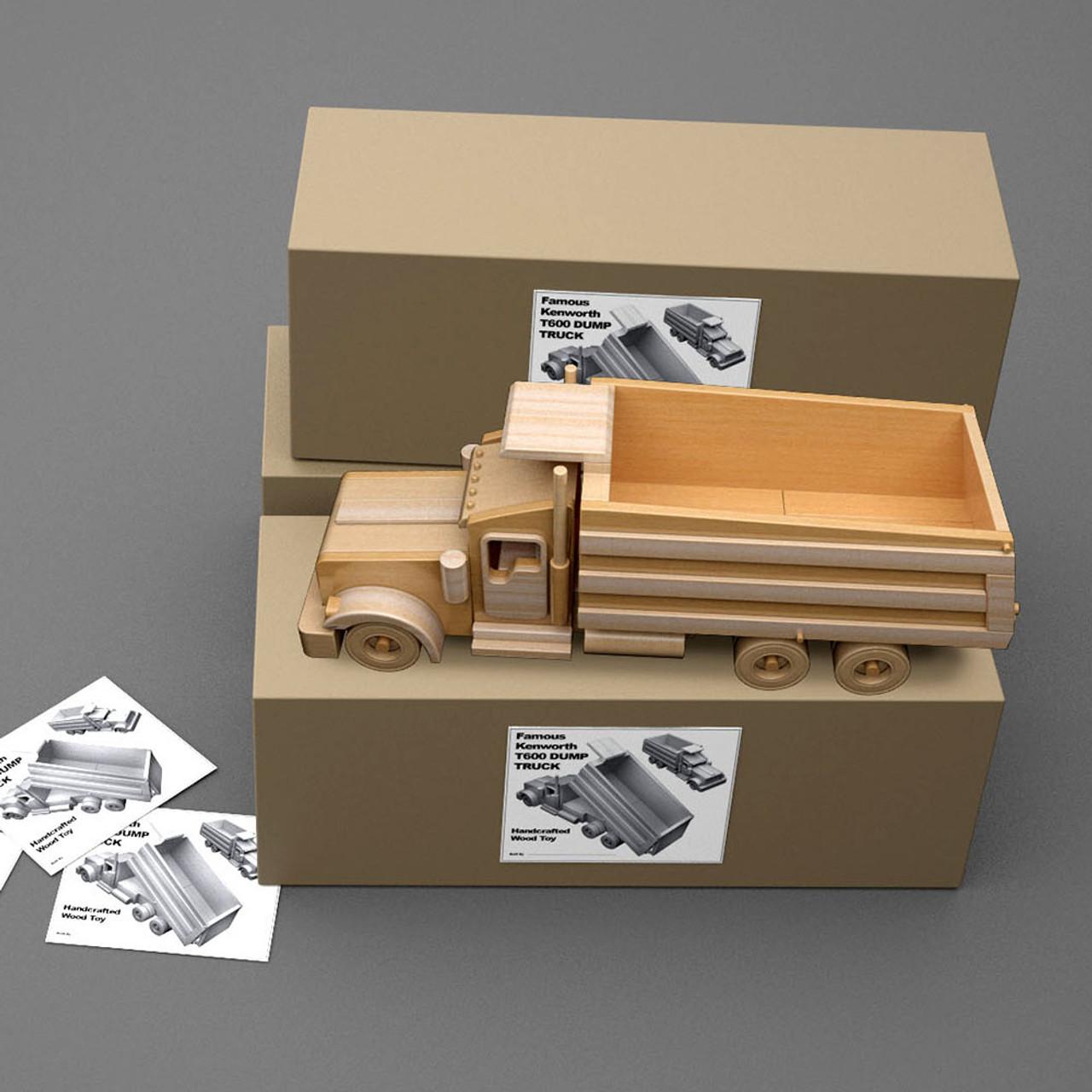 famous kenworth t600 dump truck wood toy plans (pdf download)