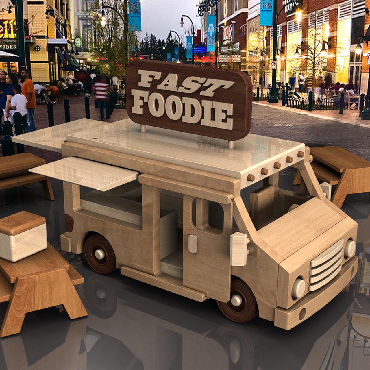 fast foodie n delivery trucks wood toy plans (2 pdf downloads)