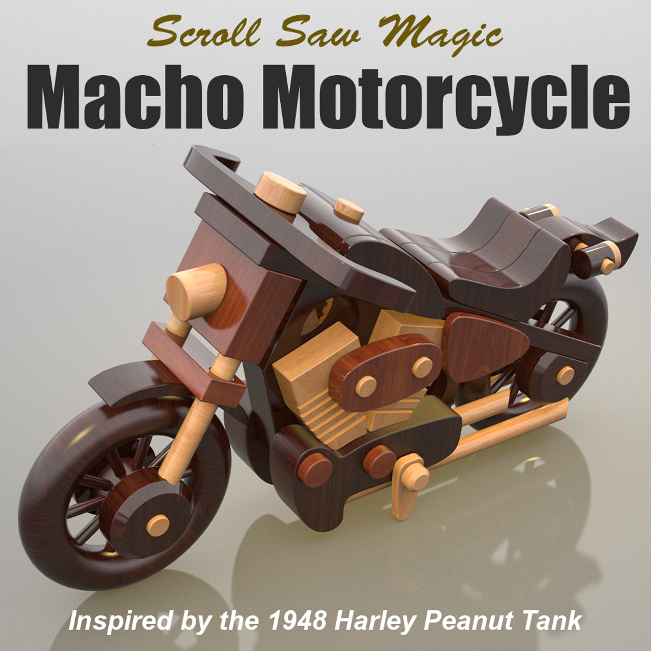 scroll saw magic macho motorcycle wood toy plans (pdf download)