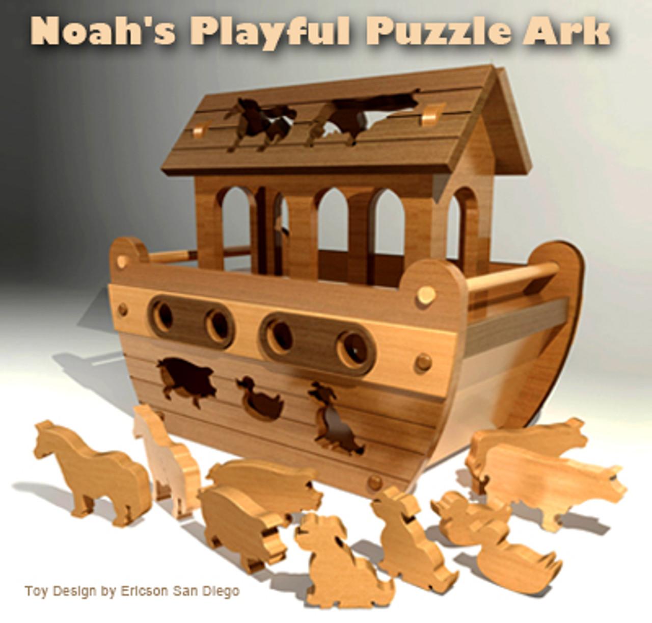 noah's playful puzzle ark wood toy plans (pdf download)