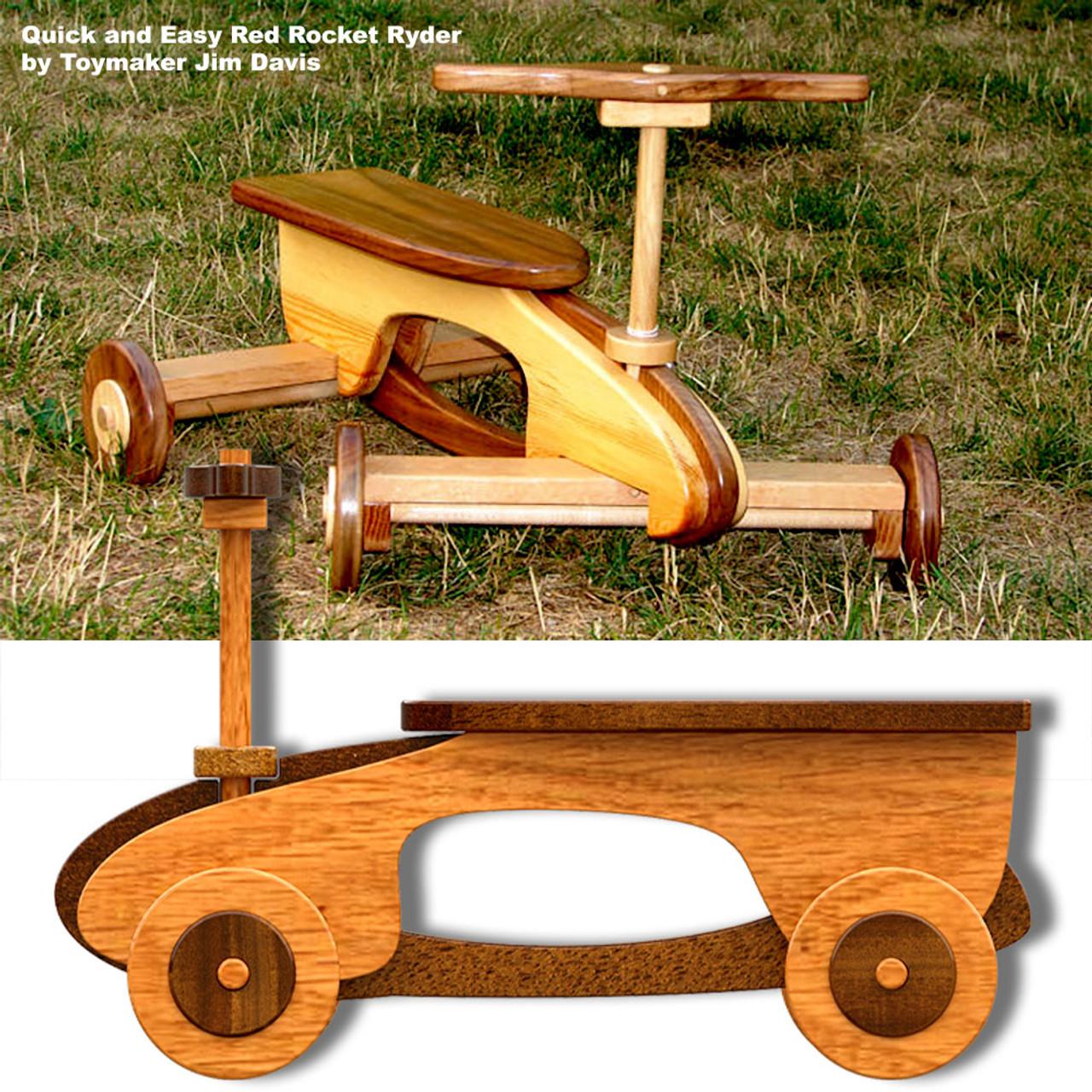 quick & easy red rocket ryder wood toy plans (pdf download)