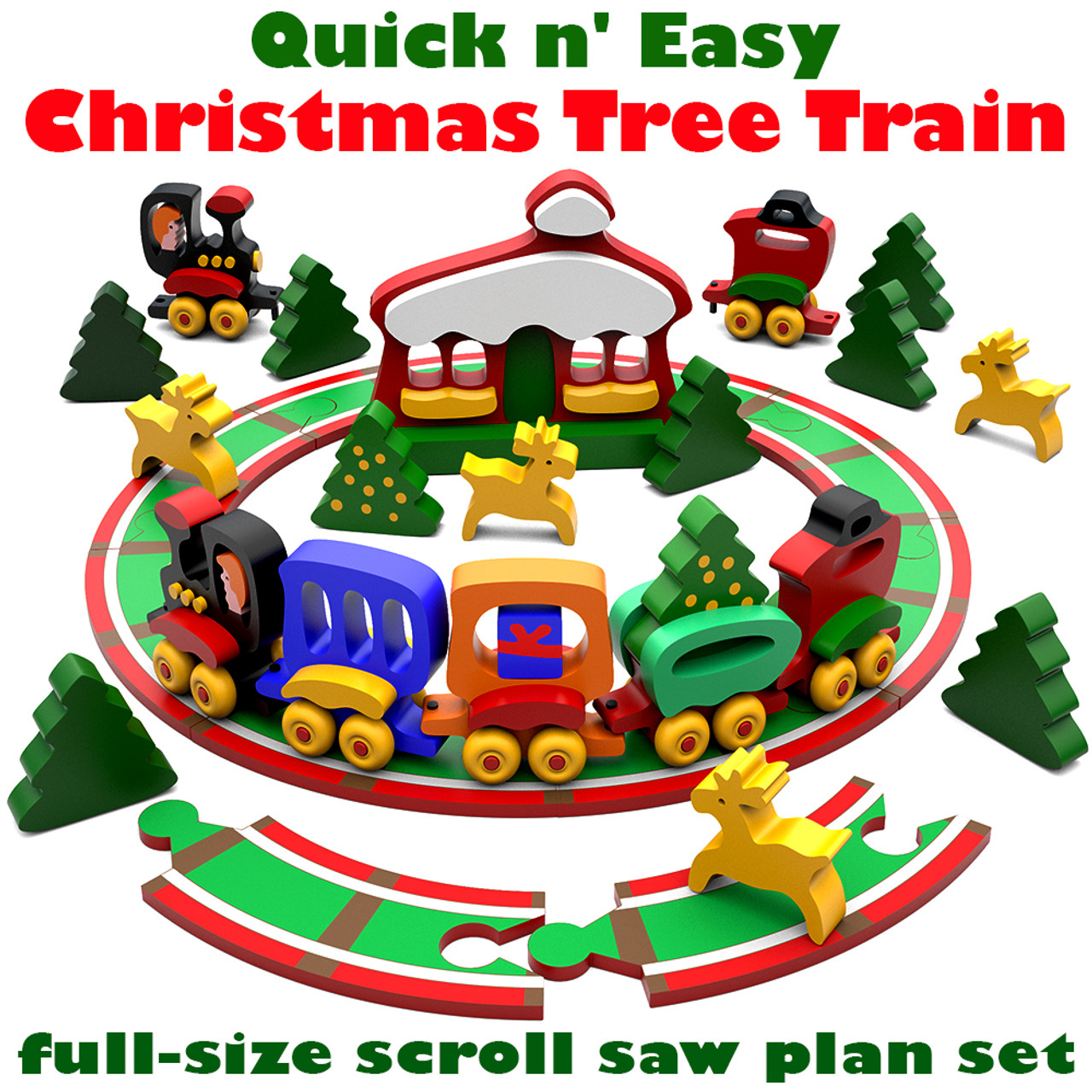 Christmas Tree Train.Quick Easy Christmas Tree Train Wood Toy Plans Pdf Download
