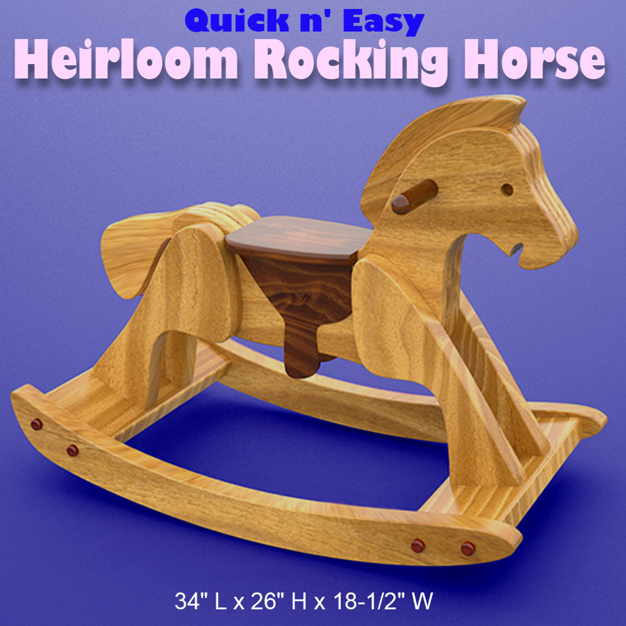 quick & easy heirloom rocking horse wood toy plans (pdf download)