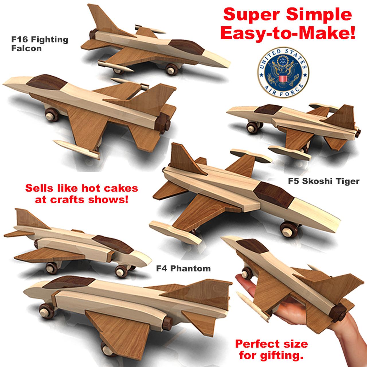 quick & easy vietnam fighter planes wood toy plans (3 pdf downloads)