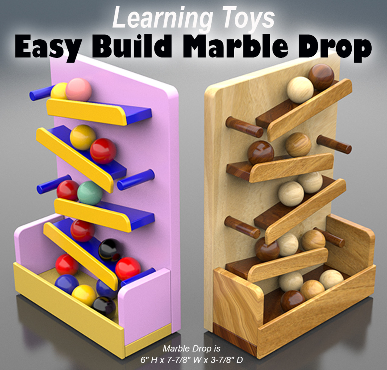 quick & easy wood marble drop wood toy plans (pdf download)
