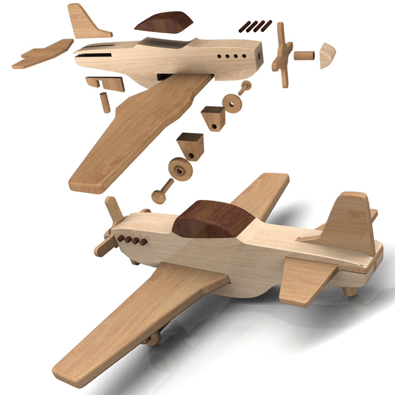 Quick Easy Wwii Fighter Planes Wood Toy Plans 2 Pdf Downloads