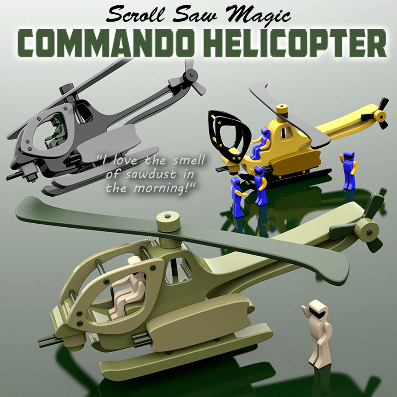 scroll saw magic commando helicopter wood toy plans (pdf download)
