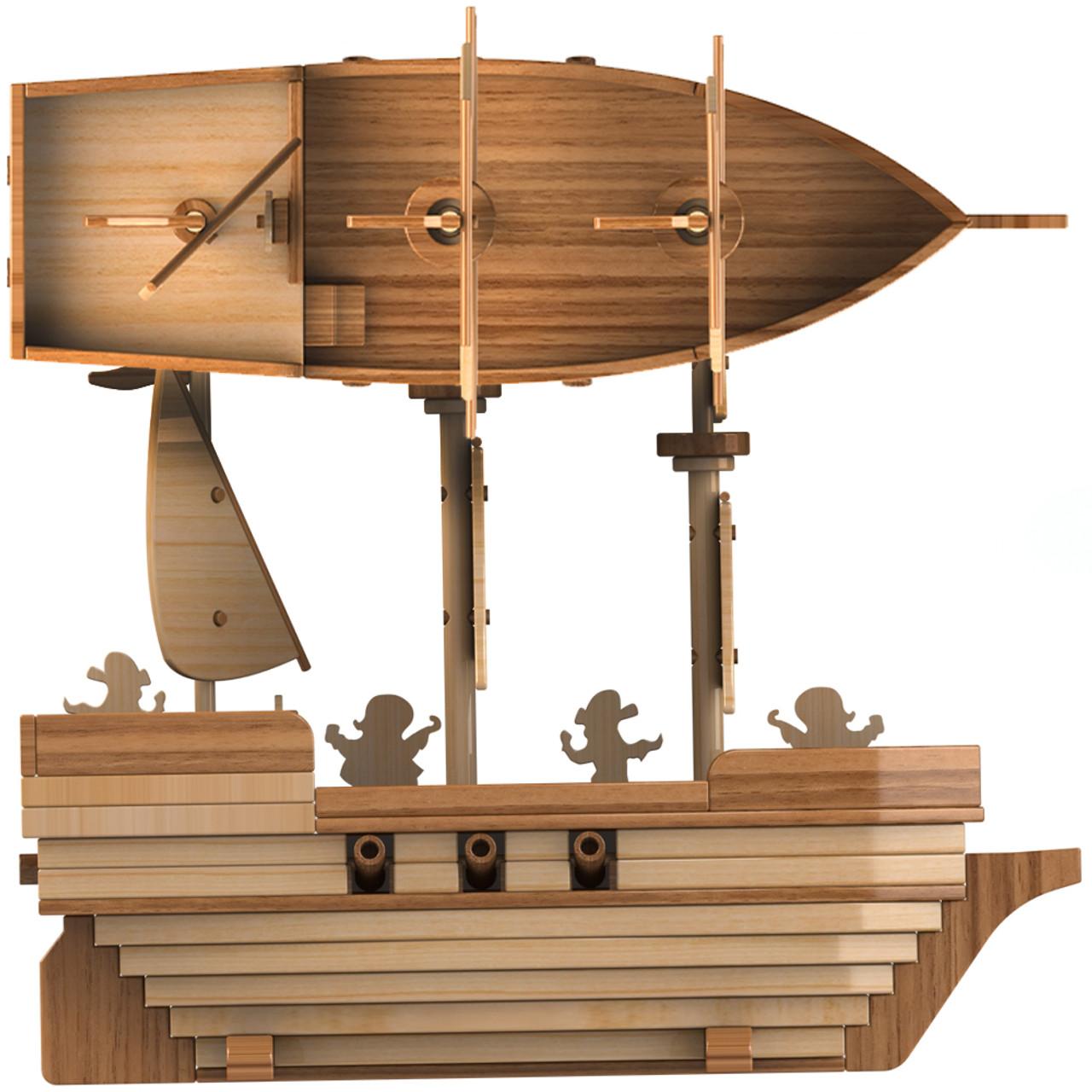 scroll saw magic pirate ship madagascar wood toy plans (pdf download)