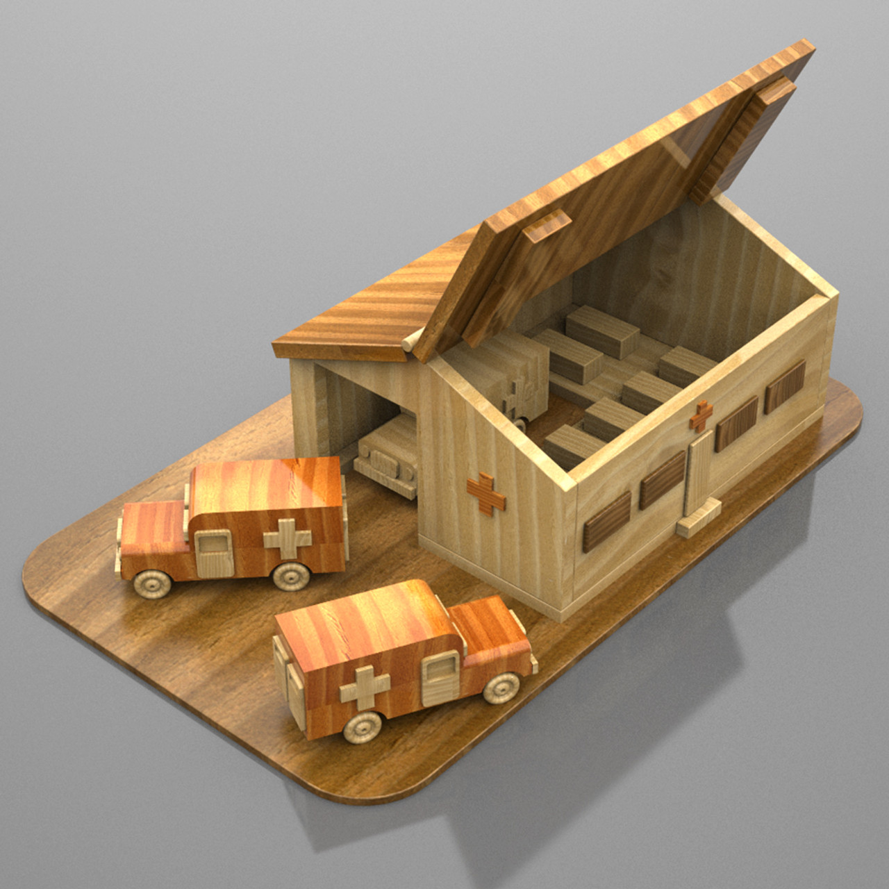 military miniatures vietnam field hospital wood toy plans (pdf download)