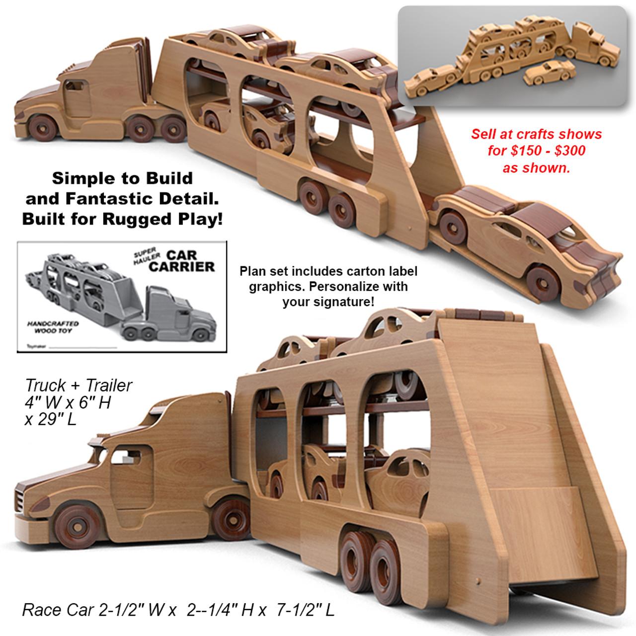 super hauler car carrier wood toy plans (pdf download)