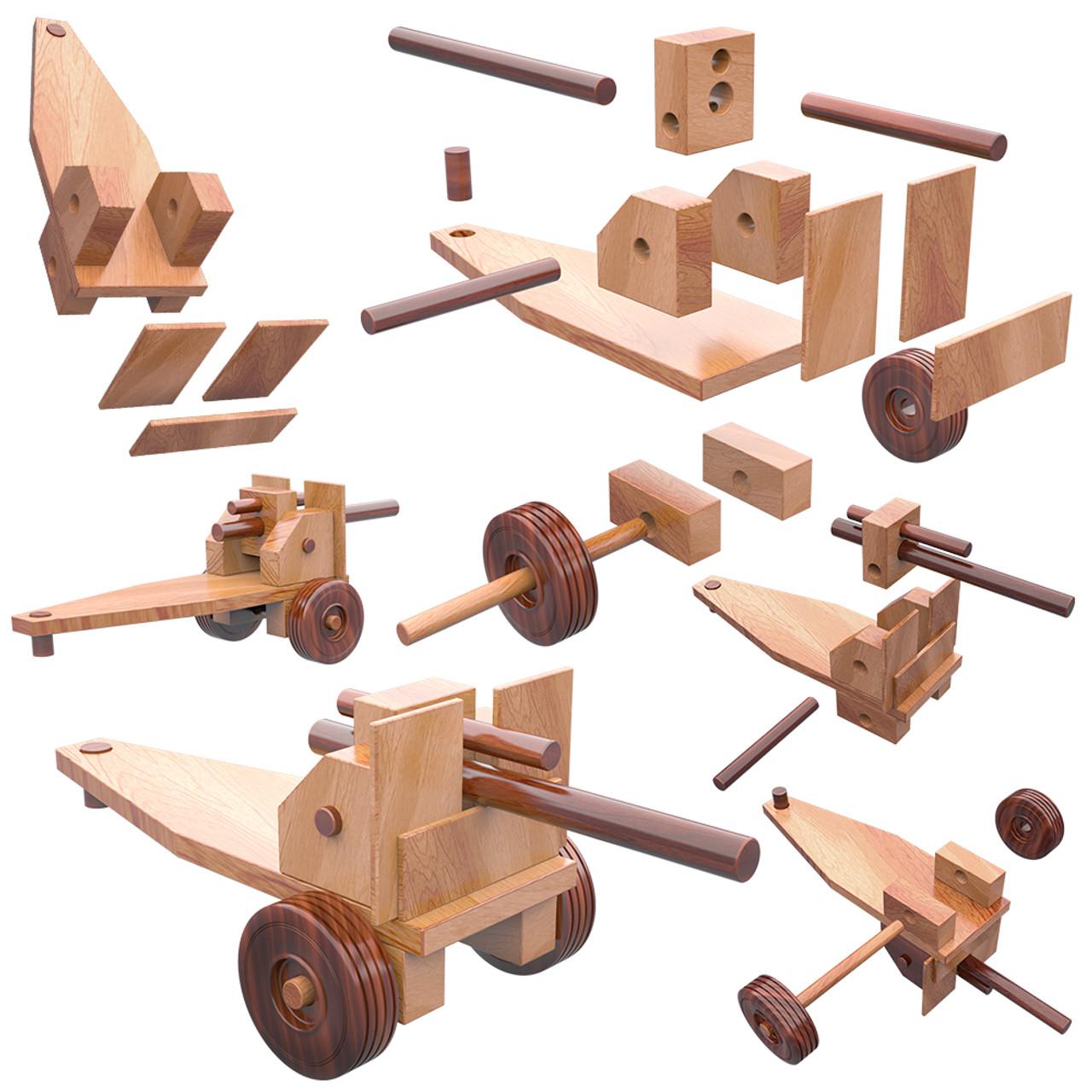 super reallywood vietnam howitzer wood toy plans (pdf download)
