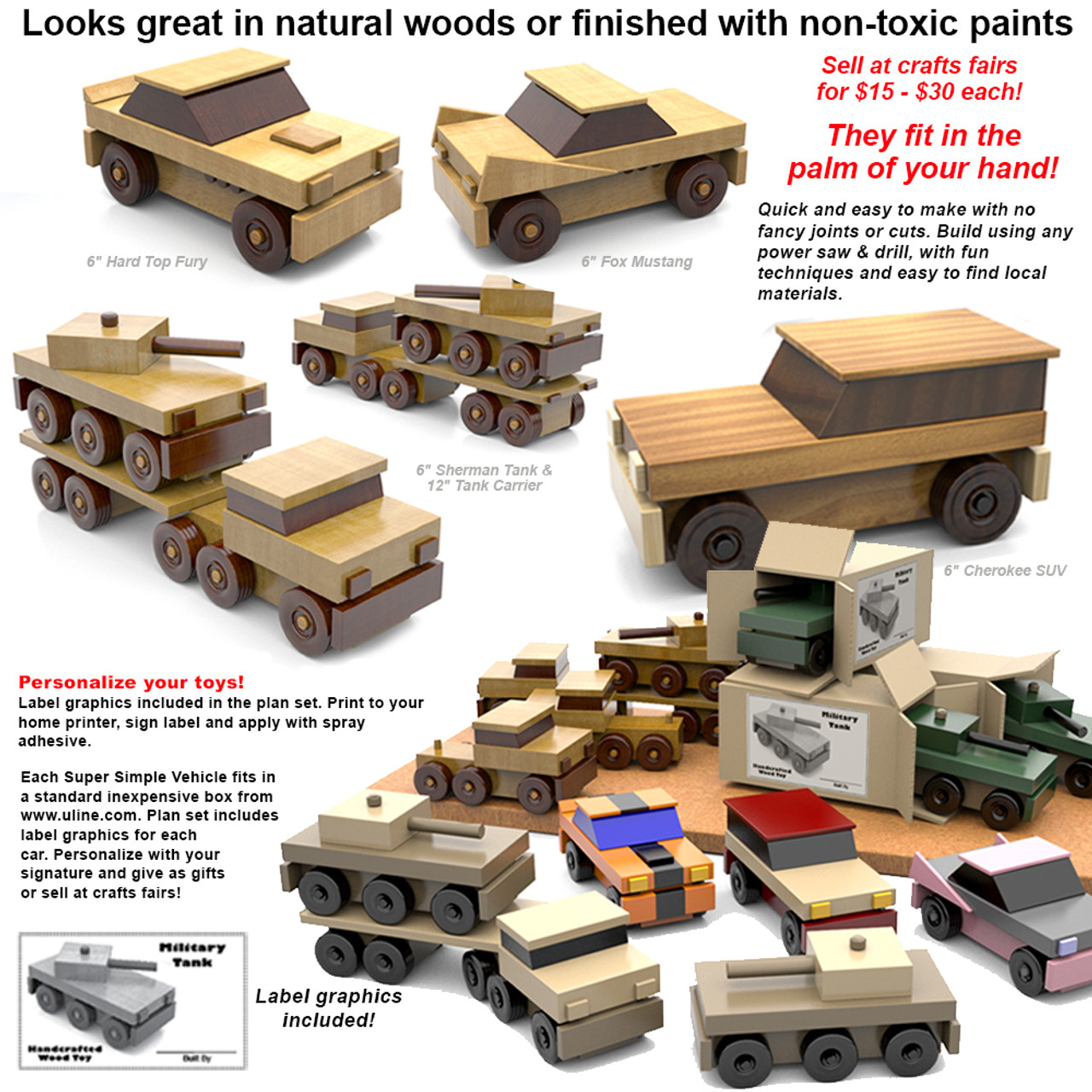 super simple six inch specials wood toy plans (pdf download)