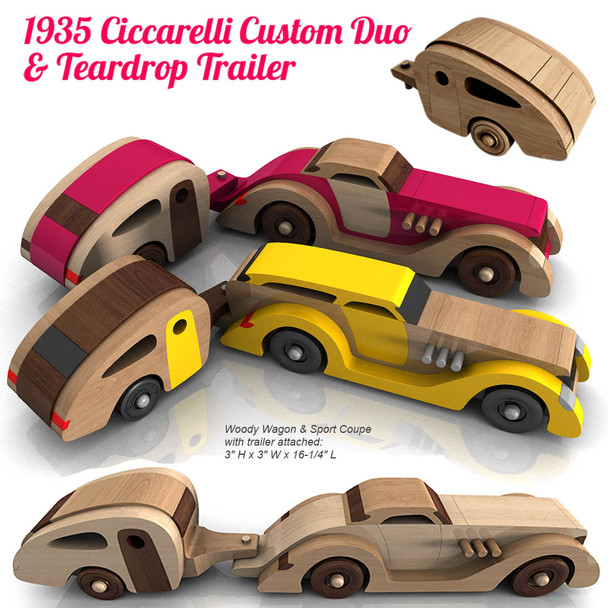 1935 Ciccarelli Custom Duo Plus Teardrop Trailer (2 PDF Downloads) Wood Toy Plans