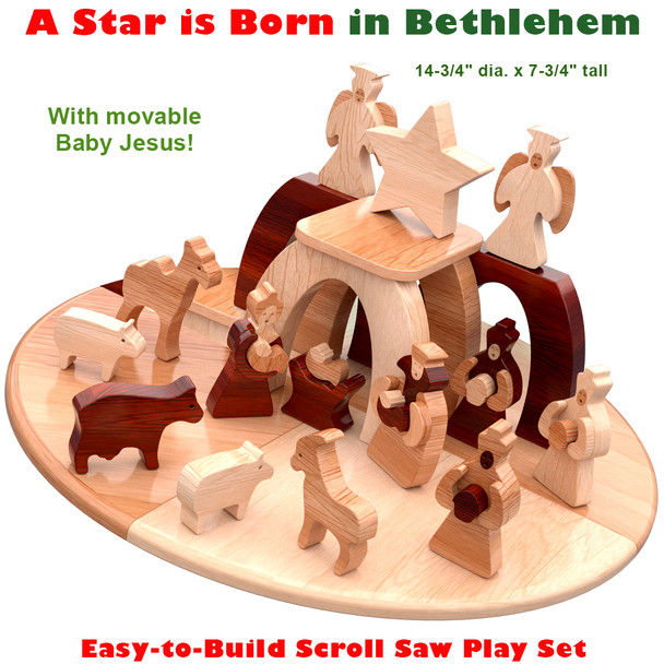A Star is Born in Bethlehem Christmas (PDF Download) Wood Toy Plans