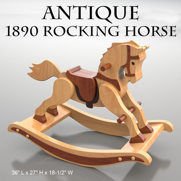 Antique 1890 Rocking Horse (PDF Download) Wood Toy Plans