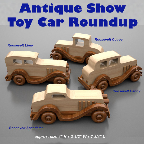 Antique Show Toy Car Roundup (PDF Download) Wood Toy Plans