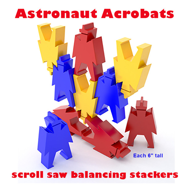 Astronaut Acrobats (PDF Download) Wood Toy Plans
