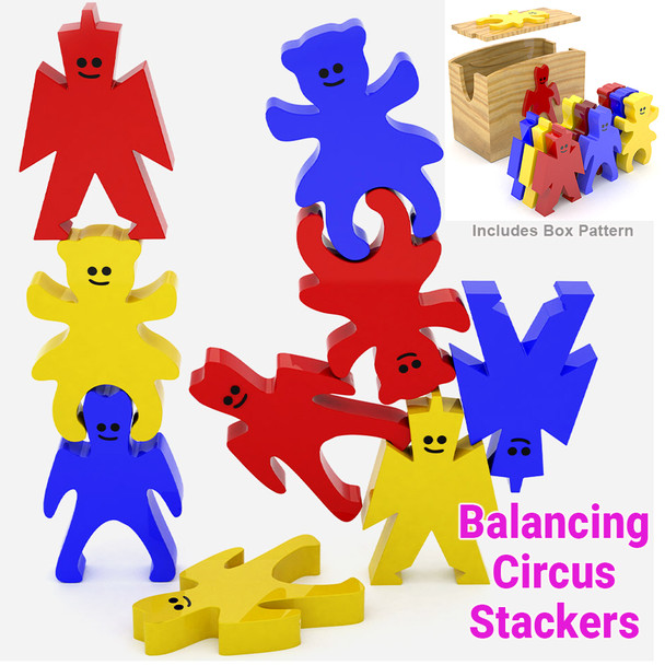 Balancing Circus Stackers (PDF Download) Wood toy Plans