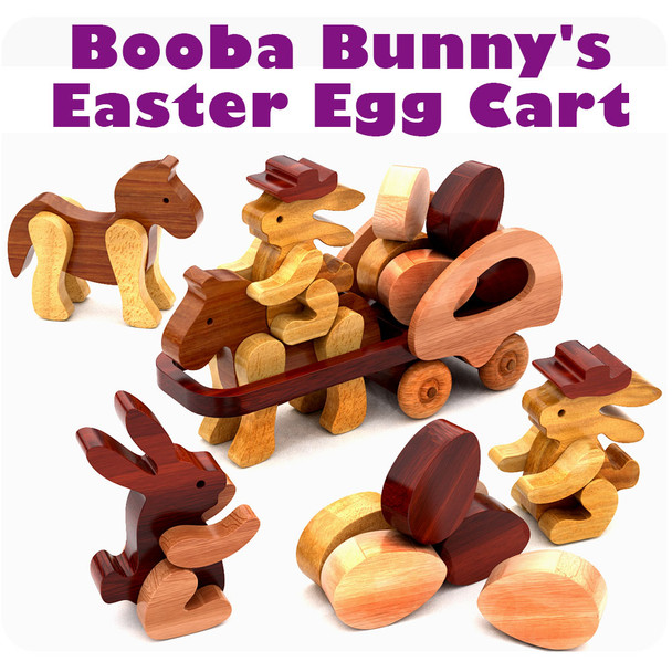 Booba Bunny's Easter Egg Cart (PDF Download) Wood Toy Plans