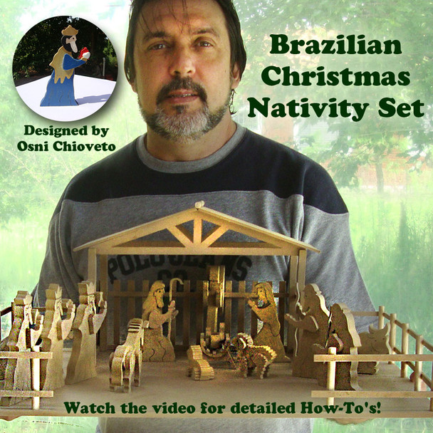 Brazilian Christmas Nativity (PDF Download) Wood Toy Plans