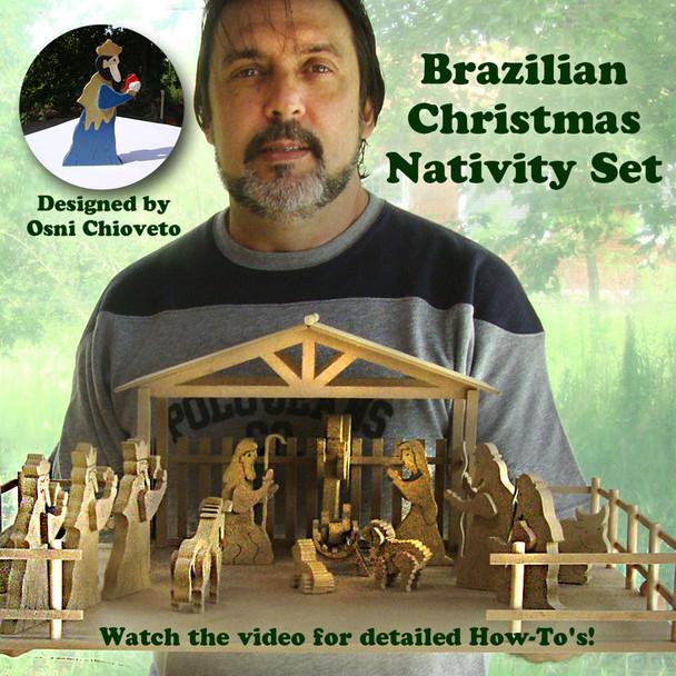 Brazilian Christmas Nativity (PDF Download) Wood Toy Plans