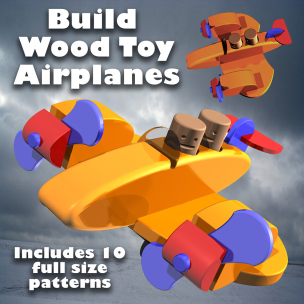 Build Toy Airplanes (PDF eBook Download) Wood Toy Plans