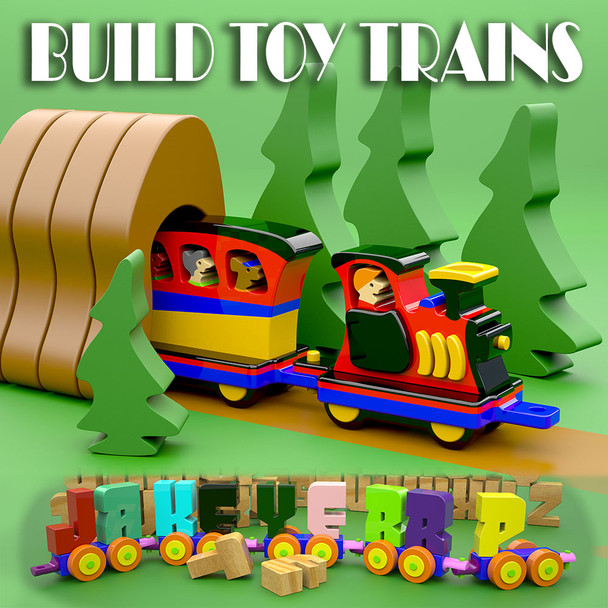 Build Toy Trains (PDF eBook Download) Wood Toy Plans