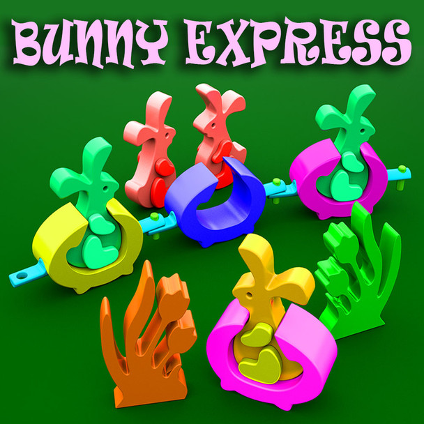 Bunny Express Full Size (PDF Download) Wood Toy Plans