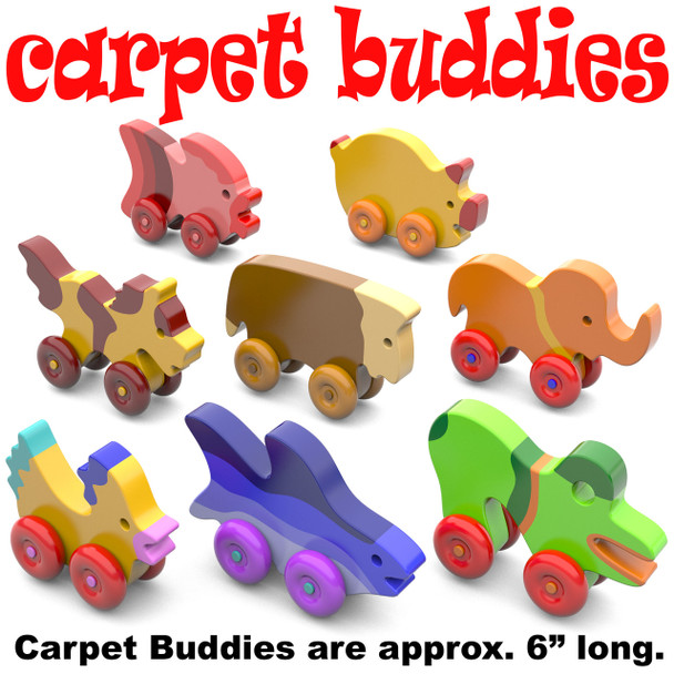 Carpet Buddies Scroll Saw (PDF Download) Wood Toy Plans
