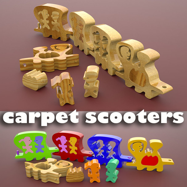 Carpet Scooter Choo Choo (PDF Download) Wood Toy Plans