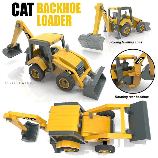 CAT Backhoe Loader (PDF Download) Wood Toy Plans