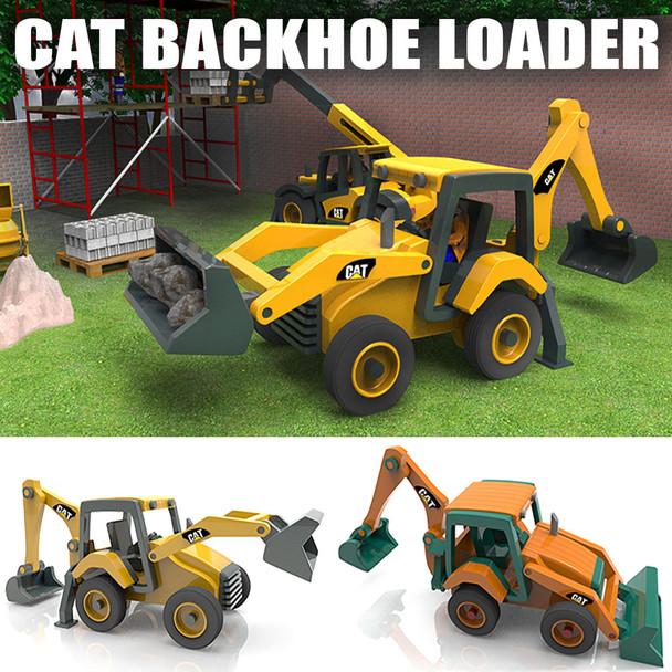 CAT Backhoe Loader (PDF Download) Wood Toy Plans