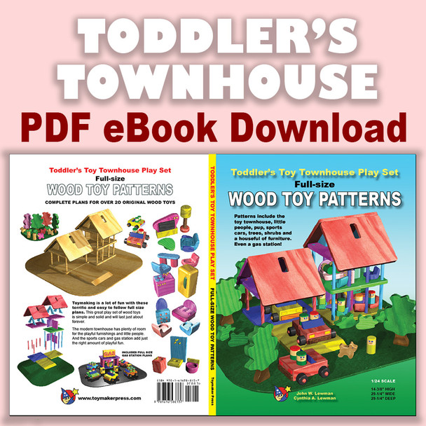 Toddler's Toy Townhouse Play Set (PDF eBook Download) Full-Size Wood Toy Plans