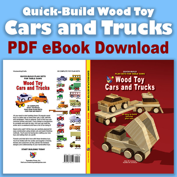 Toy Cars and Trucks (PDF eBook Download) Wood Toy Plans